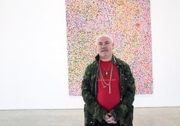 """Damien Hirst """"The Veil Paintings"""" exhibition at Gagosian, Beverly Hills"""