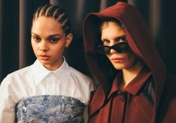 Off-White F/W 2018 backstage at Pavillon Cambon, Paris