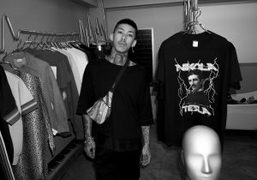 """KOHH in his freshly opened store """"Dogs"""", Tokyo"""