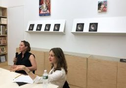 Artist Natalie Frank and The Drawing Center Chief Curator Claire Gilman discussing...