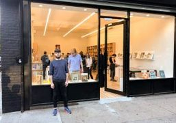 Proprietor Bryan Leitgeb outside the new Mast Books space in New York,...