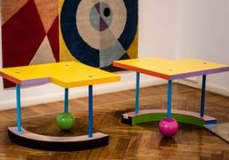 """Peter shire's """"1 2 3 4 Stagioni"""" exhibition at Memphis, Milan"""