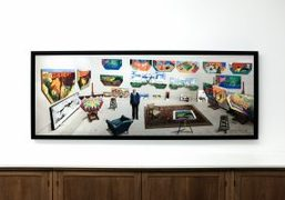 "David Hockney's ""New Photographic Drawings"" Exhibition at Galerie Lelong, Paris"