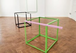 """Gerwald Rockenschaub's """"ROMANTIC / ECLECTIC (REMODELLED CAROUSEL EDIT)"""" Exhibition at Galerie Thaddaeus..."""