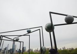 "Alicja Kwade's ""ParaPivot"" Installation on the Met Roof Garden, New York"