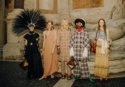 Gucci Cruise 2020 Backstage at Capitoline Museums, Rome
