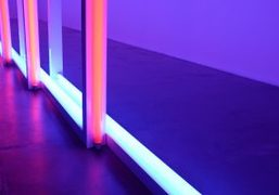 Dan Flavin's Exhibition at David Zwirner Gallery, Paris