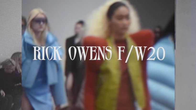 Behind The Scenes at Rick Owens F/W 2020 at Palais De Tokyo, Paris