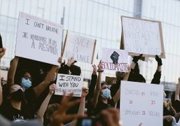 Purple NEWS: BLACK LIVES MATTER PROTEST Against Racism and Police Brutality at...